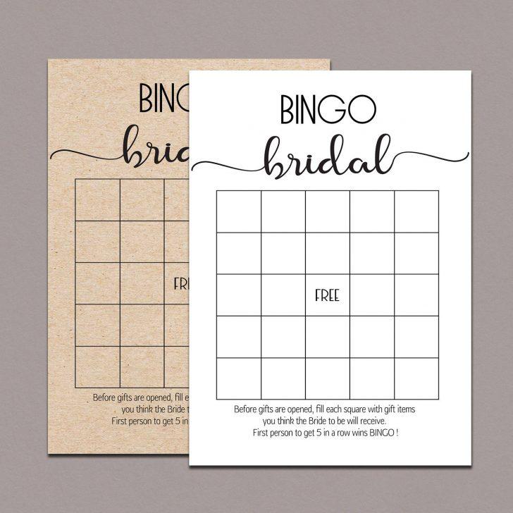 Free Printable Bridal Shower Bingo