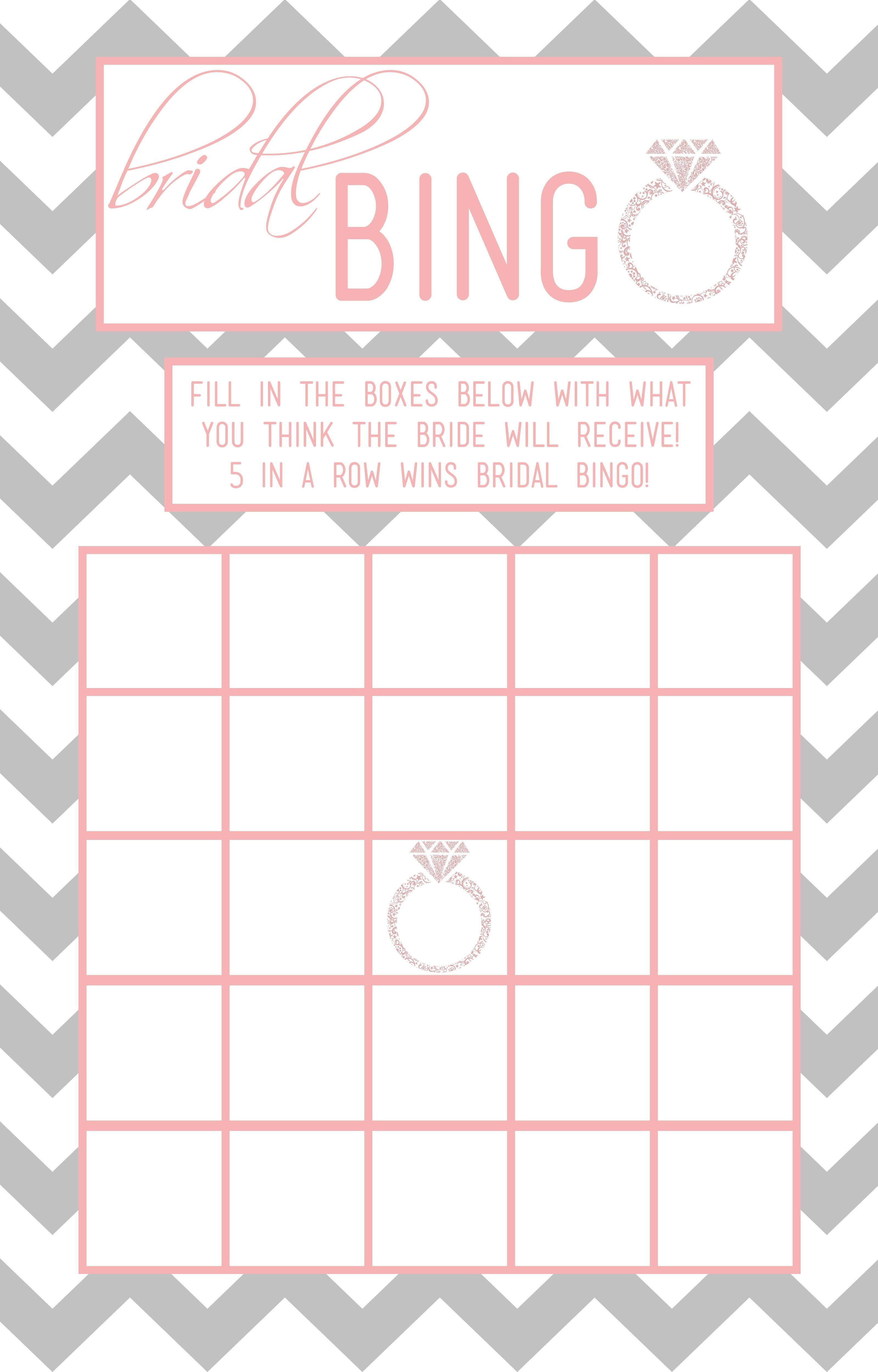 Bridal Shower Bingo Template | Madinbelgrade - Free Printable Bridal Shower Blank Bingo Games