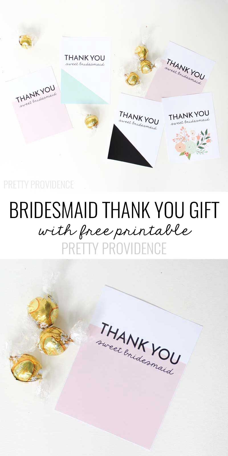 Bridesmaid Thank You Gift Printable   Michaels Weddings   Bridesmaid - Free Personalized Thank You Cards Printable