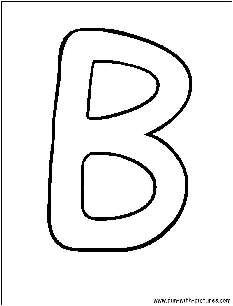 Bubble Letters B Coloring Page | Alphabet | Lettering, Bubble - Free Printable Bubble Letters