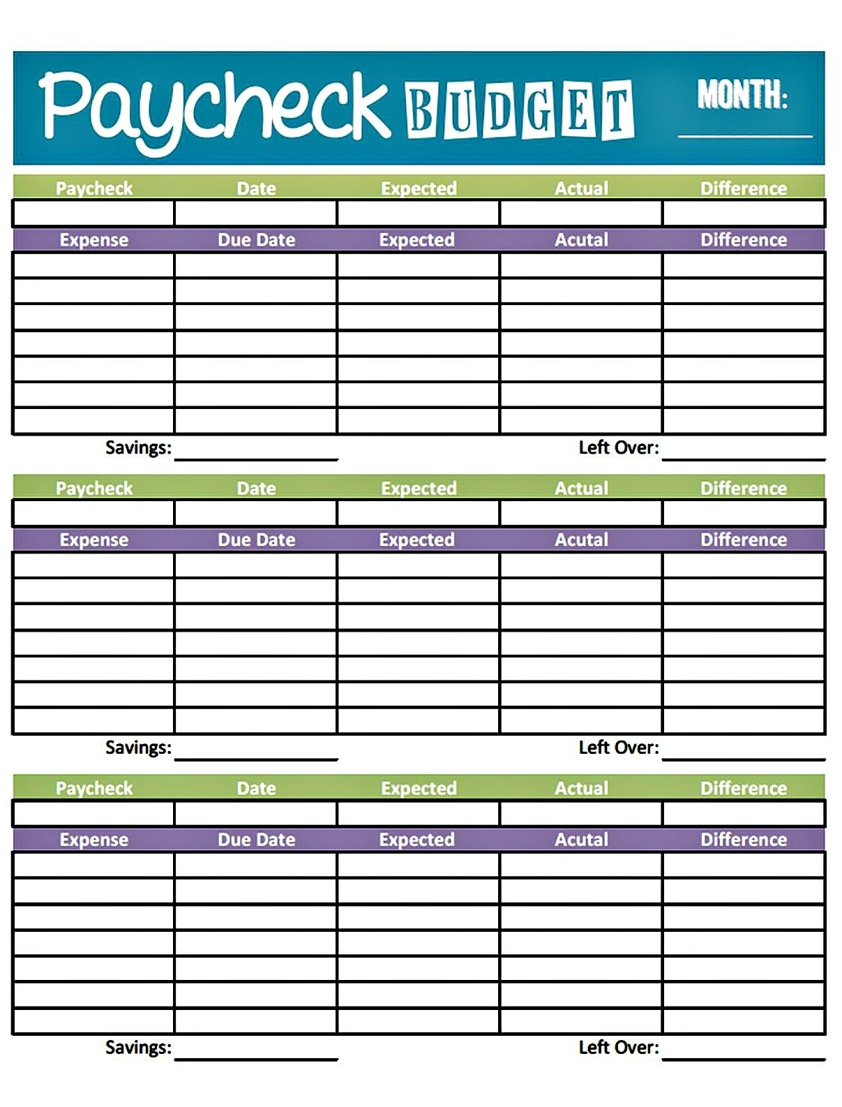 Budget Worksheet Printable | Get Paid Weekly And Charlie Gets Paid - Free Printable Bi Weekly Budget Template