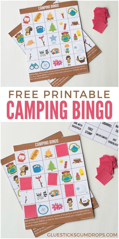 Camping Bingo Free Printable Cards   Free Printables   Camping Bingo - Free Printable Camping Games