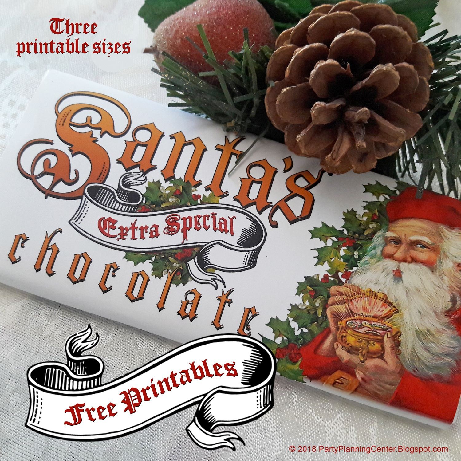 Can't Find Substitution For Tag [Post.body]--> Free Santa Claus - Free Printable Christmas Candy Bar Wrappers
