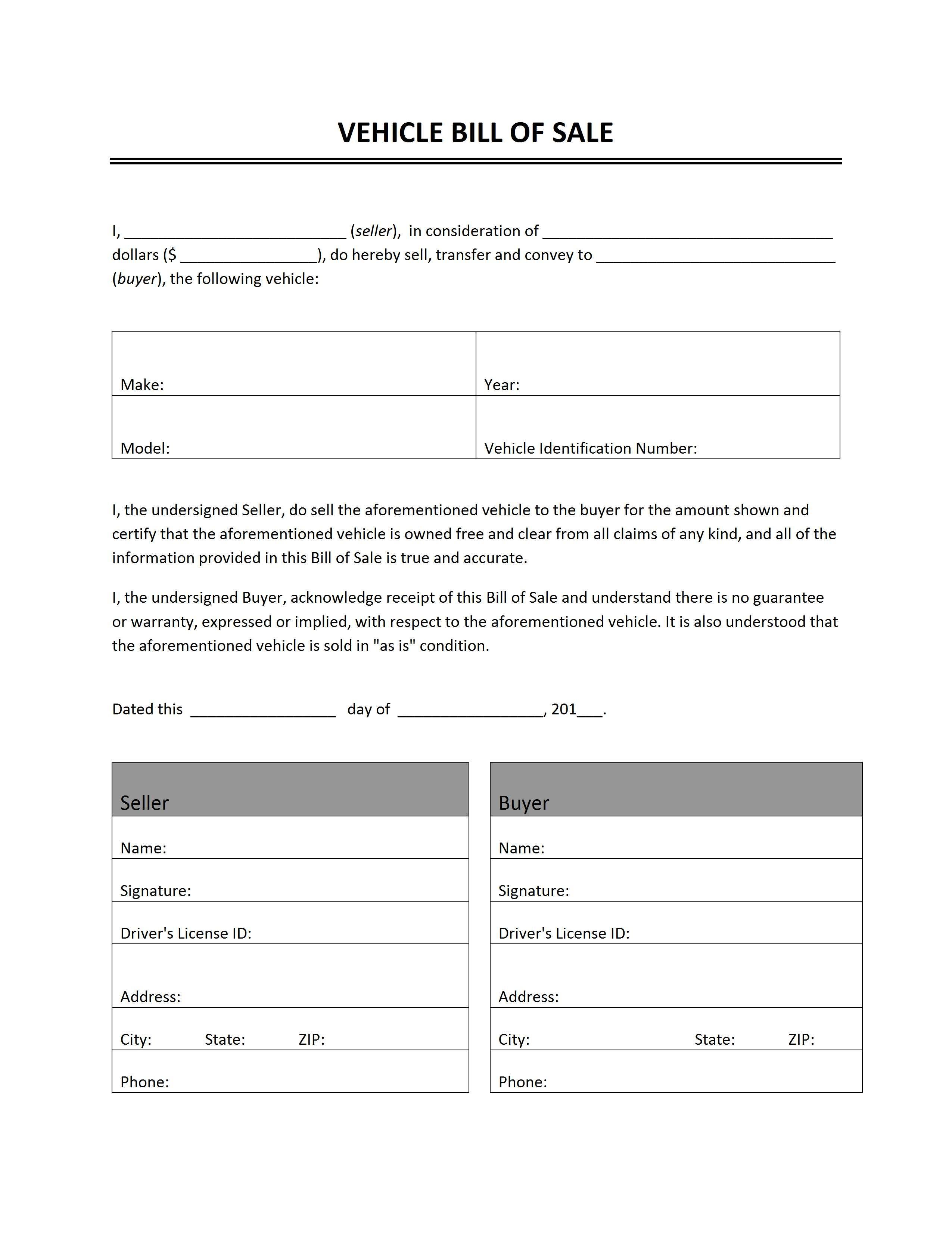 Car Sale Receipt Form - Tutlin.psstech.co - Free Printable Sales Receipt Form