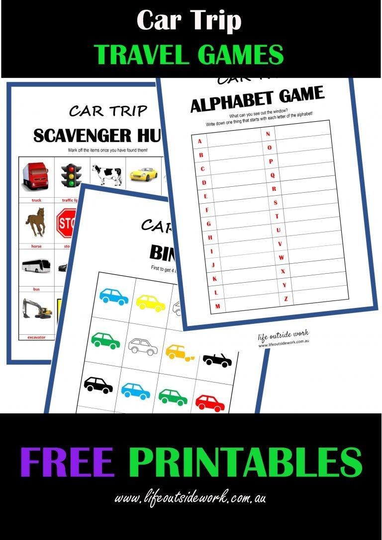 Car Travel Games + Free Printables   Life Outside Work - Free Printable Car Ride Games