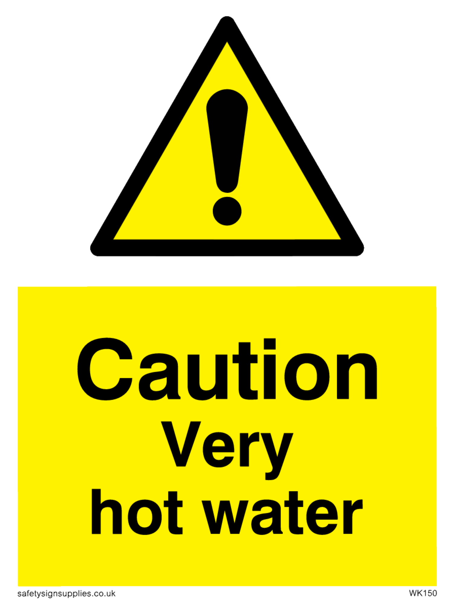 Caution Very Hot Water From Safety Sign Supplies - Free Printable Safety Signs