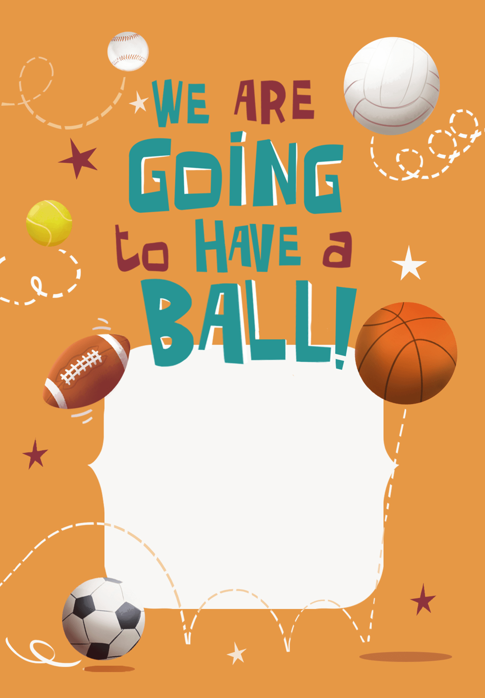 Celebrate 6Th Birthday - Free Printable Sports & Games Invitation - Free Printable Sports Birthday Invitation Templates