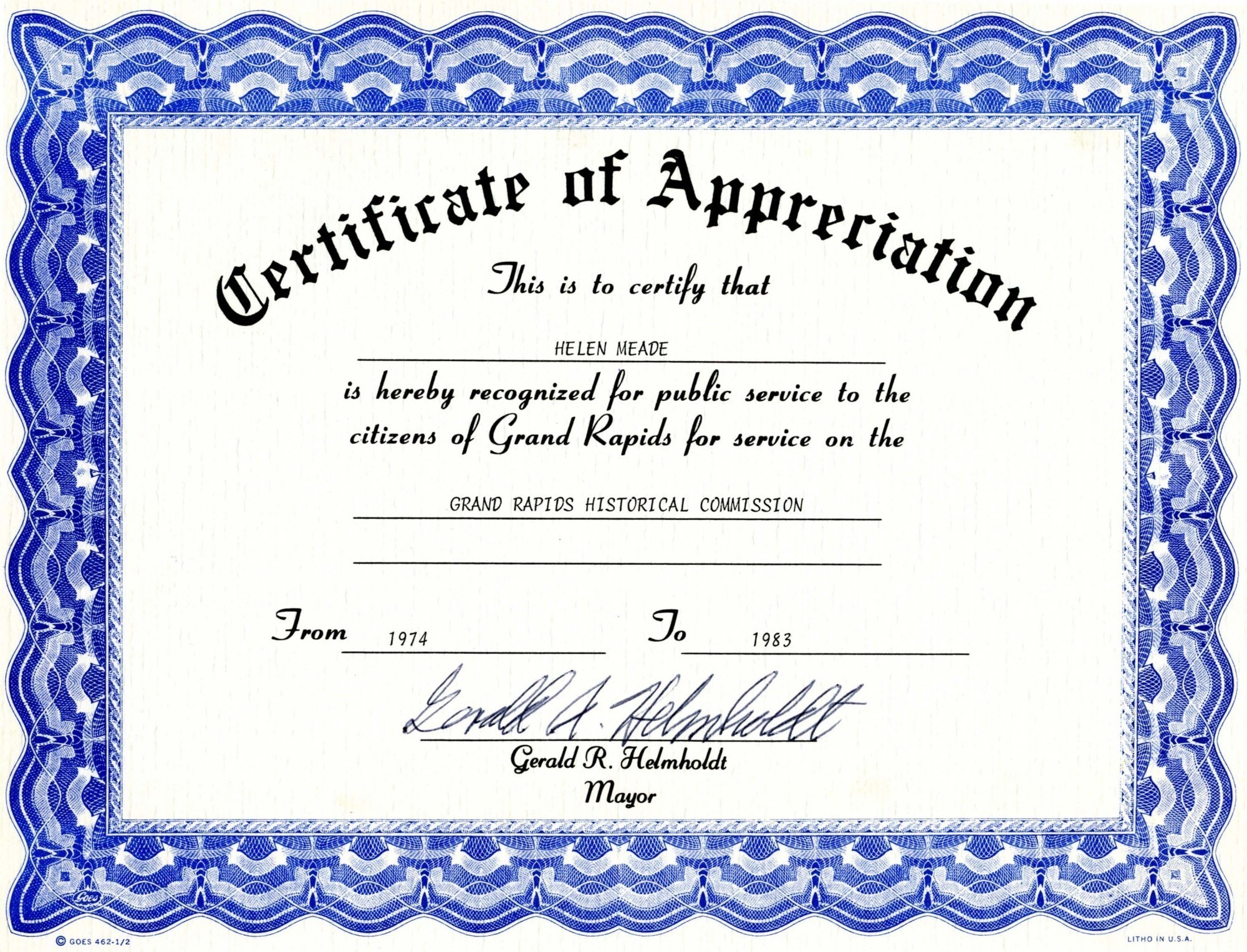 Certificate Of Appreciation Templates Free Download | Lazine - Free Printable Templates For Certificates Of Recognition
