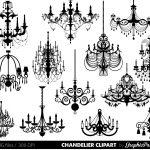 Chandelier Clip Art Scrapbooking Chandelier Clipart Printable | Etsy   Free Printable Chandelier Template