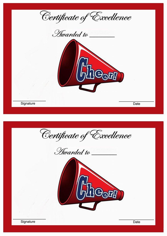 Cheerleading Award Templates. Free Printable Certificates. Printable - Free Printable Cheerleading Certificates