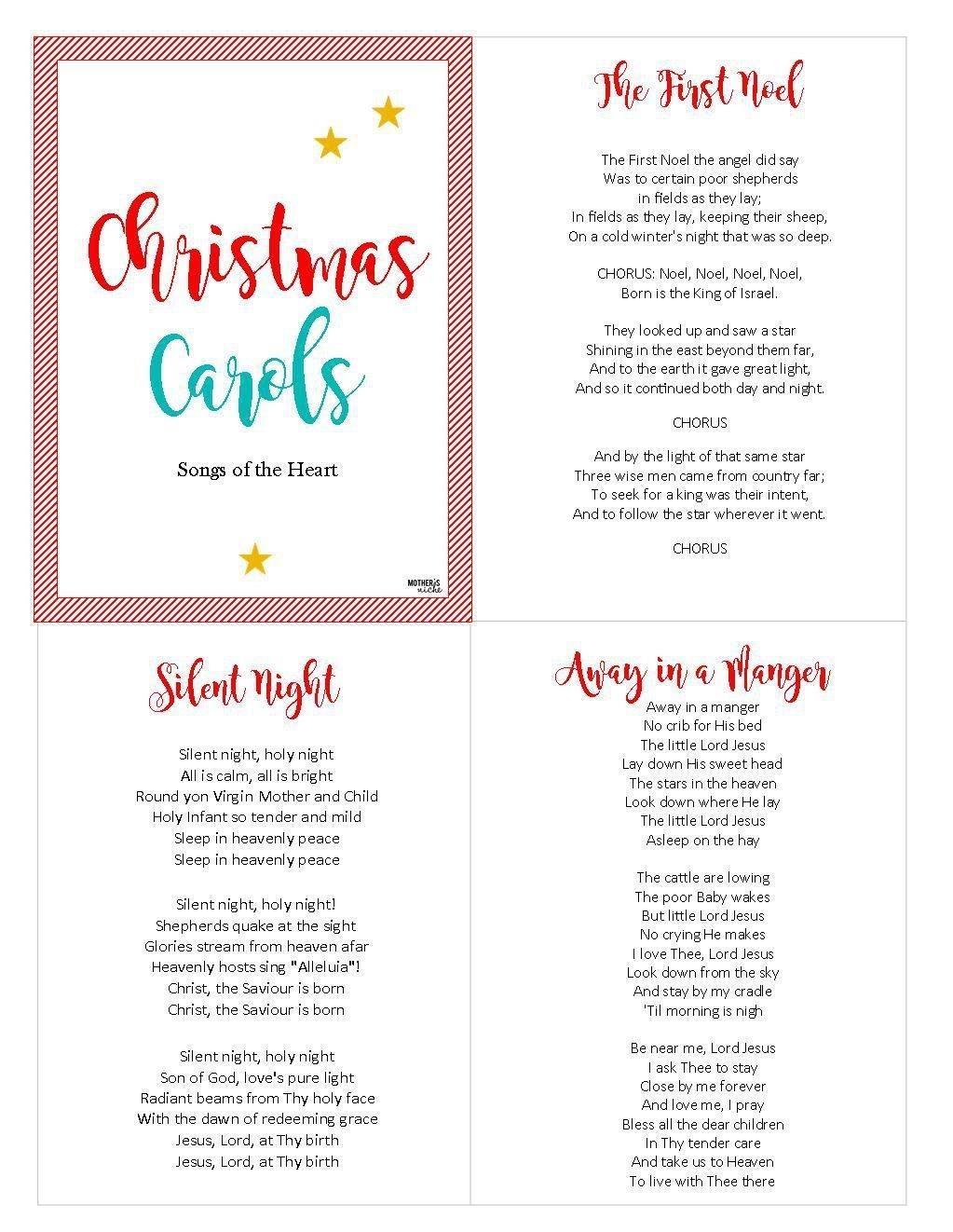Christ-Centered Christmas Carols: Free Printable   Christmas 2018 - Free Printable Christmas Carols Booklet