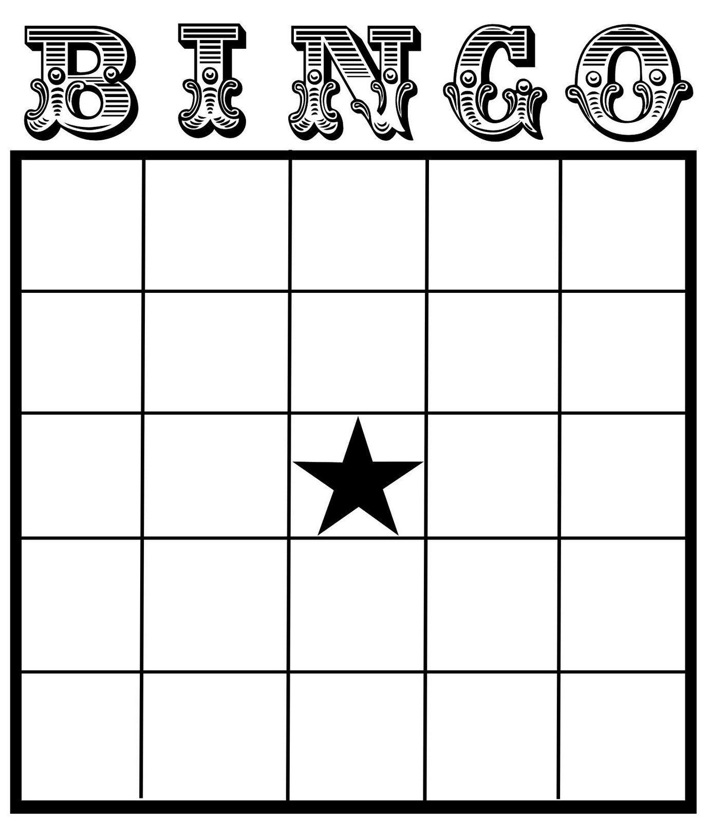Christine Zani: Bingo Card Printables To Share | Reading & Writing - Printable Bingo Template Free