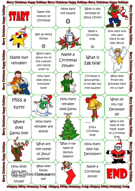 Christmas Board Game   Christmas Lessons   Christmas Board Games - Free Printable Christmas Board Games