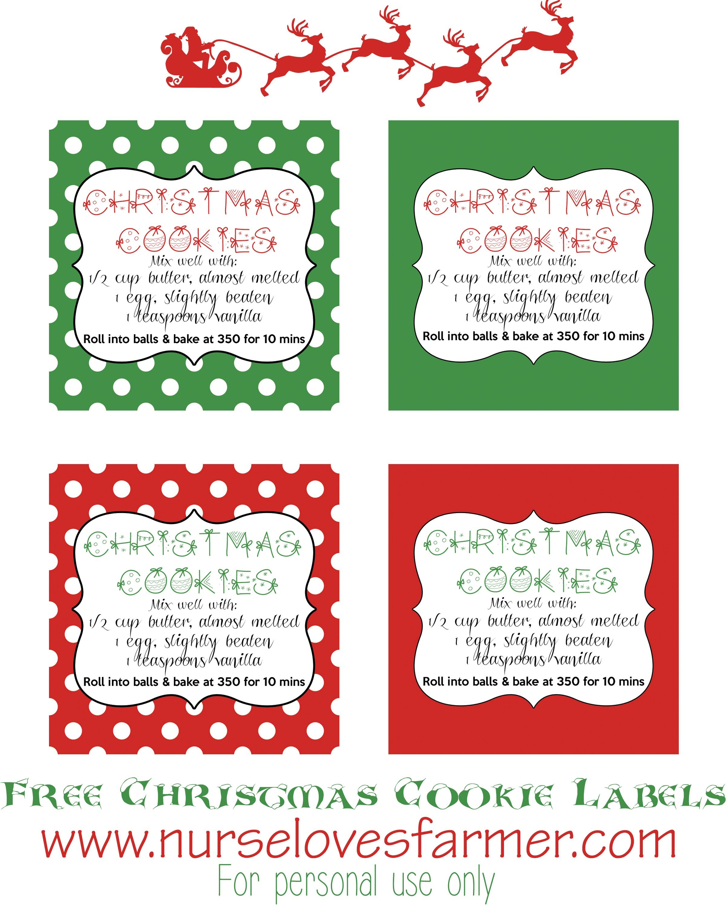 Christmas Cookies In A Jar | Recipe | Gifts In A Jar | Christmas - Free Printable Jar Labels Christmas