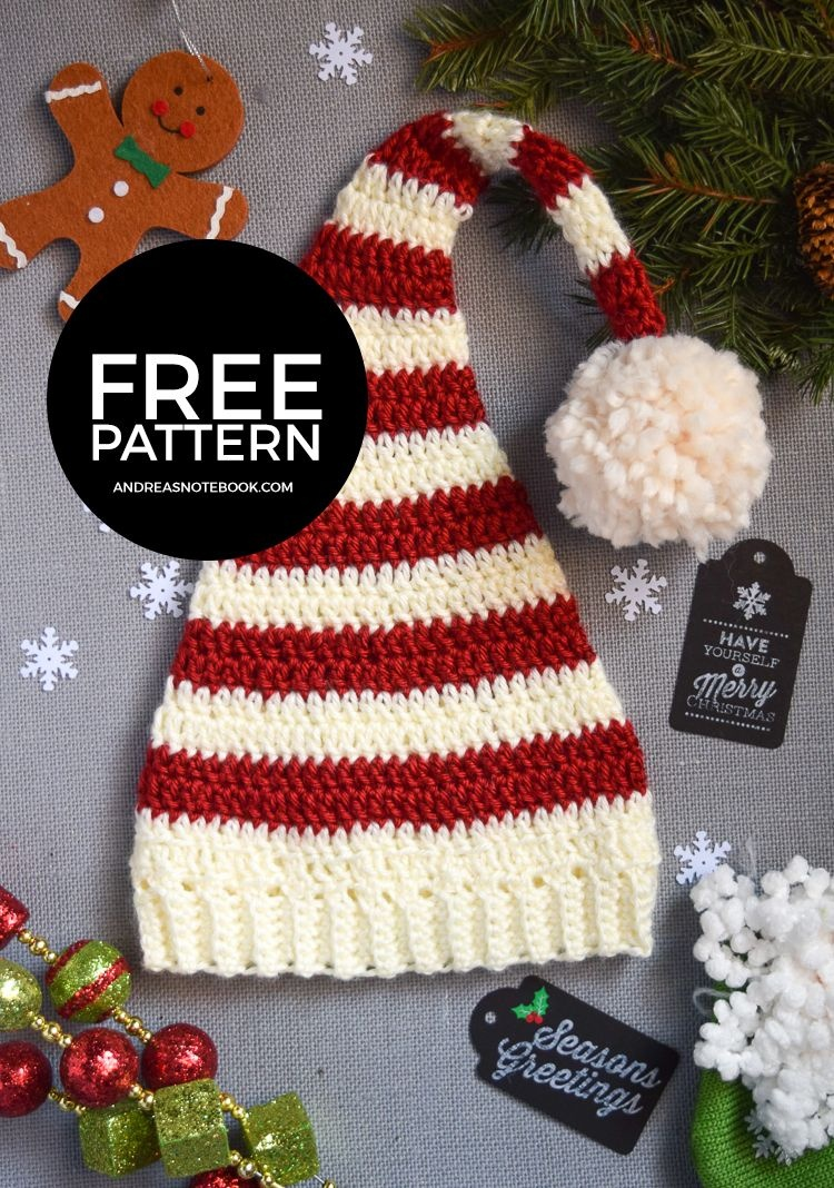 Christmas Hats For Newborn To Adult - Free Crochet Patterns - Free Printable Christmas Crochet Patterns