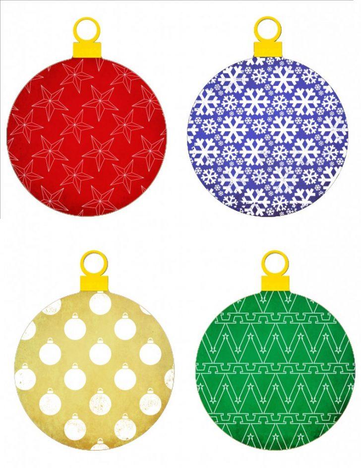Free Printable Christmas Ornaments Stencils