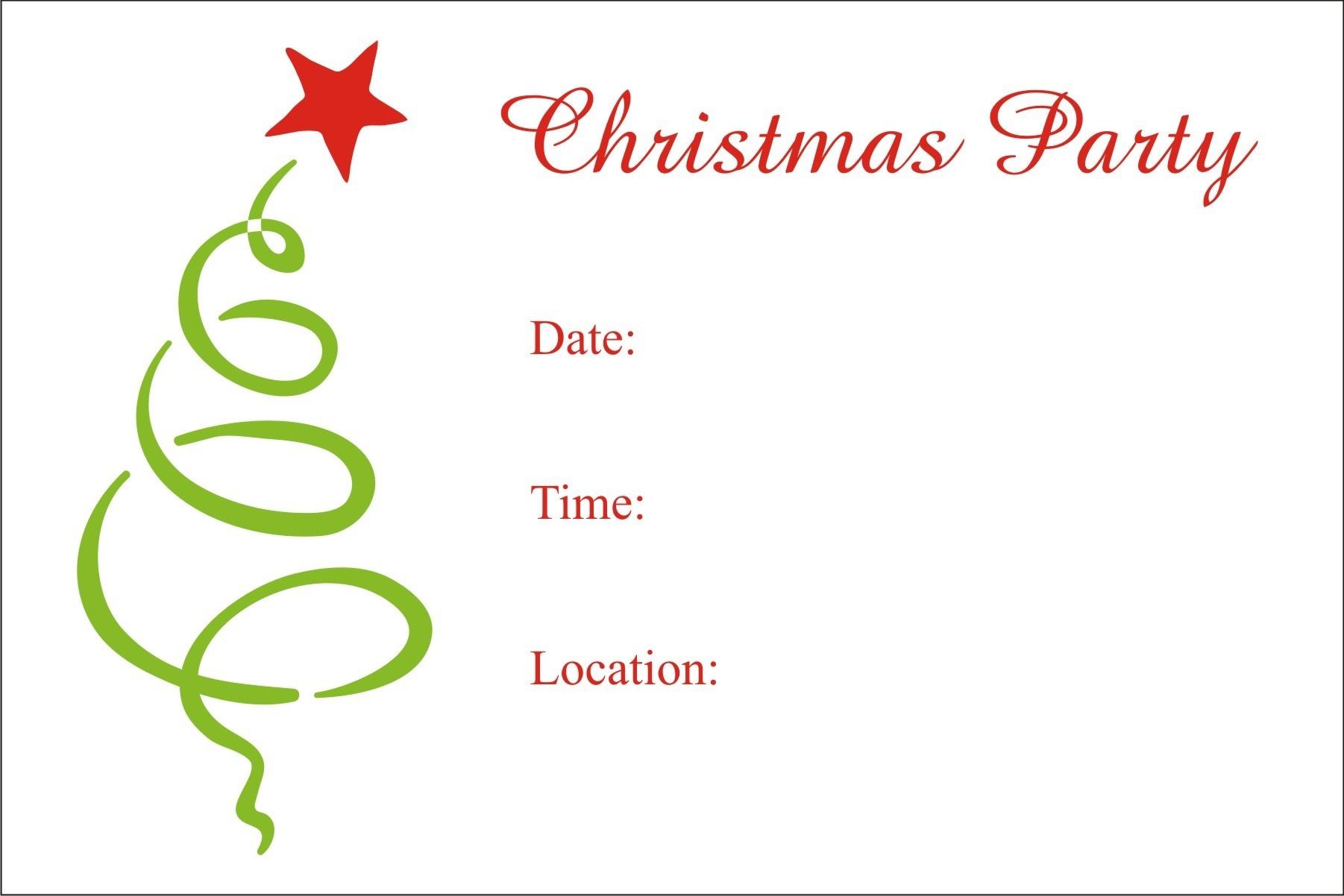 Christmas Party Free Printable Holiday Invitation Personalized Party - Free Printable Christmas Party Invitations