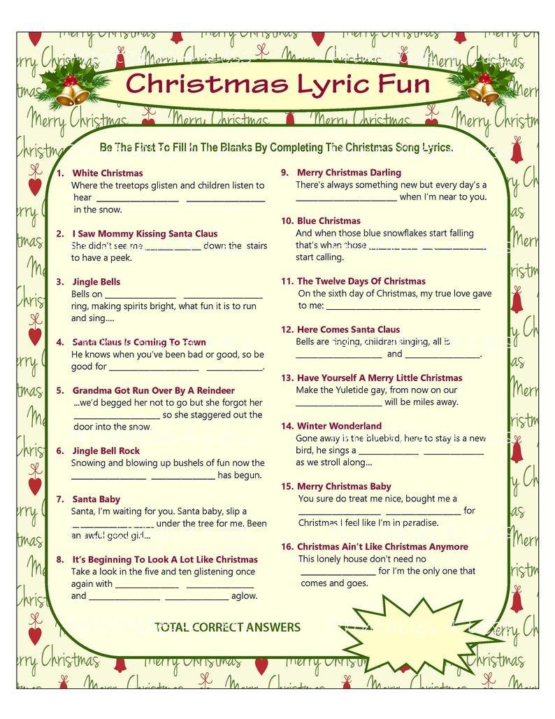 Christmas Song Game Christmas Music Game Christmas Carol   Etsy - Free Printable Christmas Games For Family Gatherings