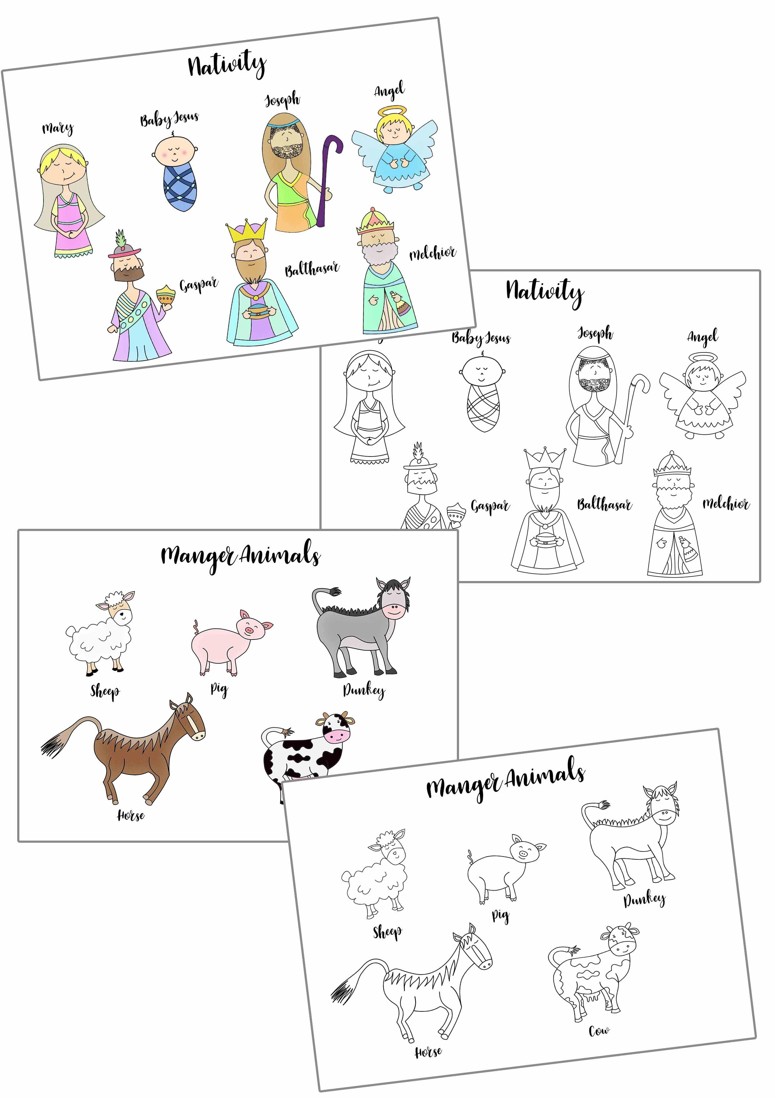 Christmas Story Stick Puppets Free Printable - Free Printable Nativity Story