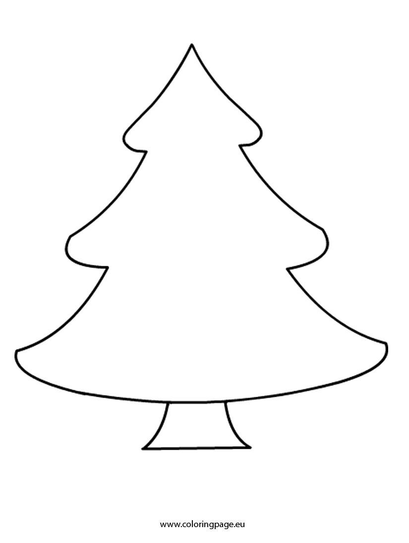 Christmas Tree. Christmas Tree Printable: Coloring Pages Plain - Free Printable Christmas Tree Template