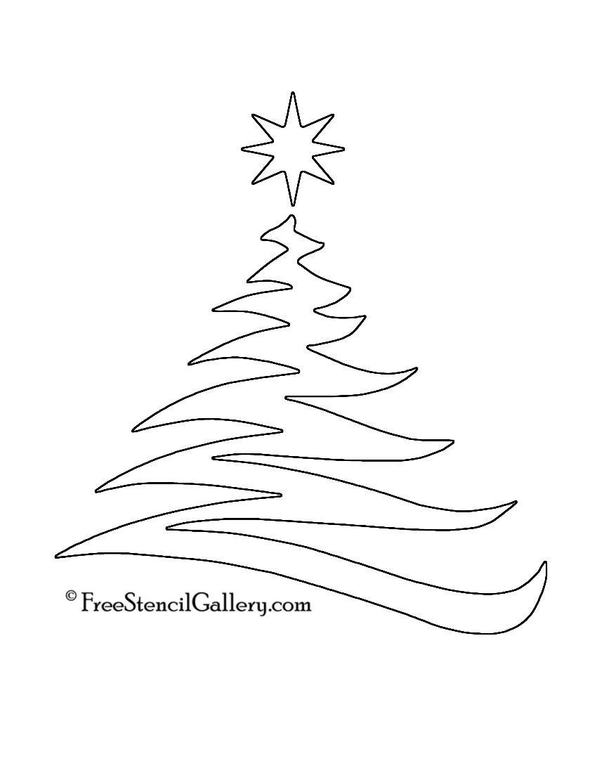 Christmas Tree Stencil 20   Christmas   Christmas Tree Stencil - Free Printable Christmas Ornaments Stencils