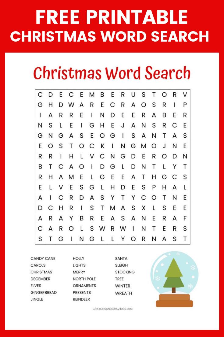 Christmas Word Search Free Printable For Kids Or Adults - Free Printable Christmas Puzzle Sheets