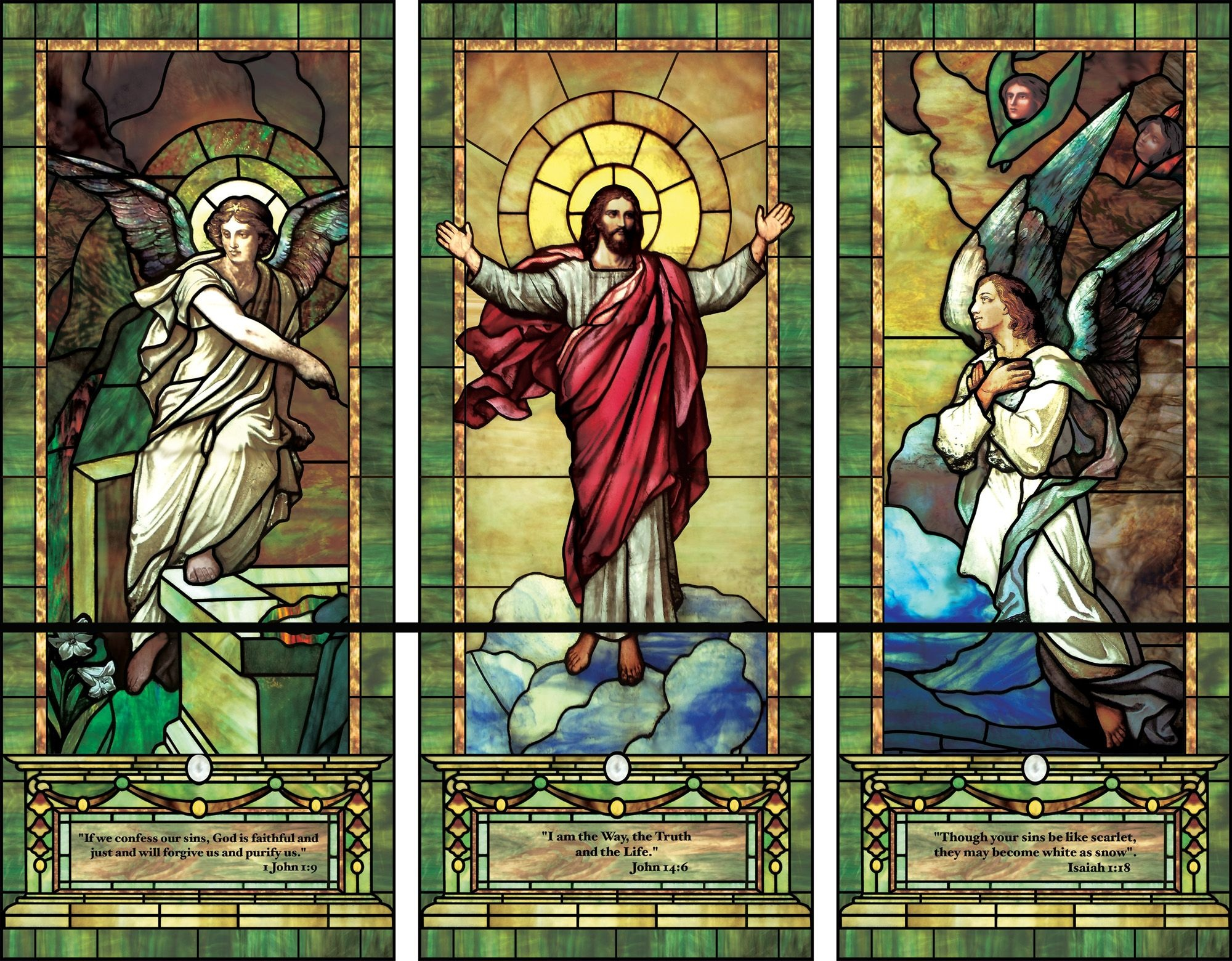 Church Stained Glass Window Patterns | Artistic Illuminado - Free Printable Religious Stained Glass Patterns