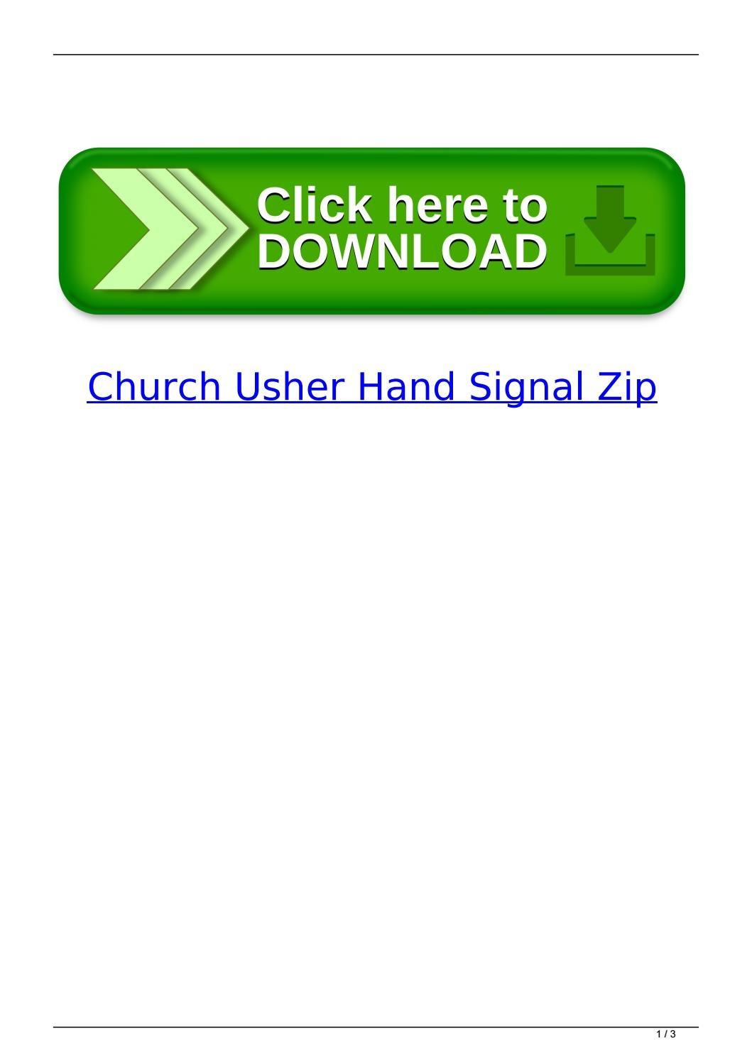 Church Usher Hand Signal Zipviemucnewee - Issuu - Free Printable Church Usher Hand Signals