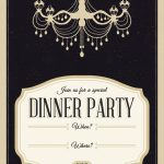 Classy Chandelier   Free Printable Dinner Party Invitation Template   Free Printable Chandelier Template