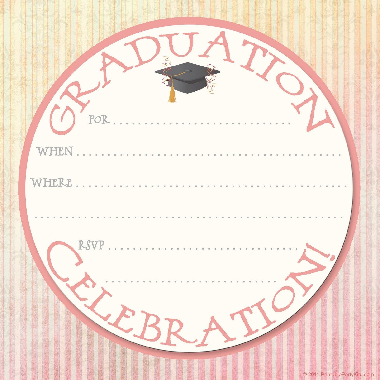 Collection Of Hundreds Of Free Graduation Invitation Template From - Free Printable Graduation Invitations