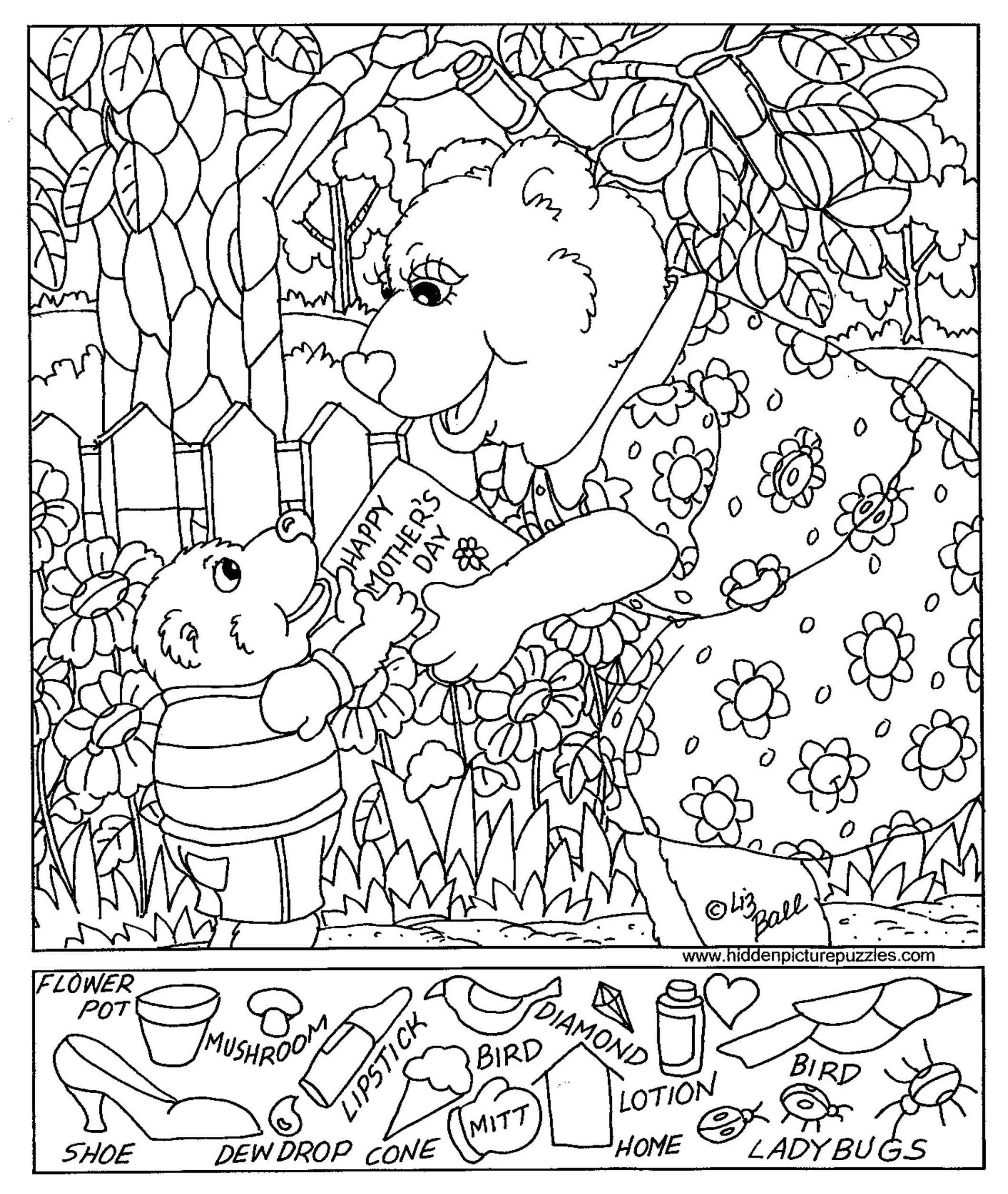 Colorful Printable Hidden Pictures Free Picture Math Worksheets - Free Printable Valentine Hidden Pictures