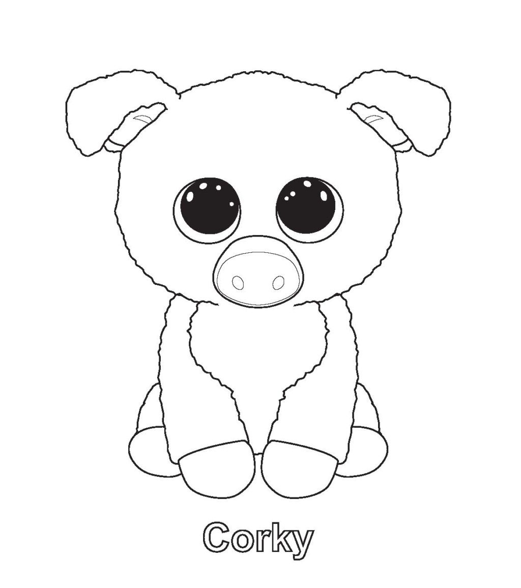 Coloring Book World ~ Beanie Boo Coloring Pages Free Boos Photo - Free Printable Beanie Boo Coloring Pages