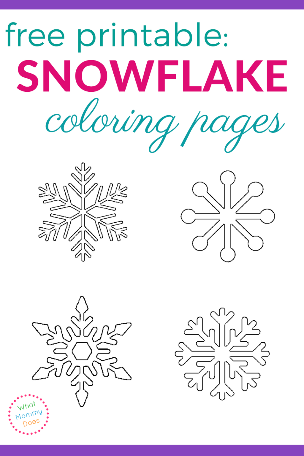 Coloring Book World ~ Splendi Snowflake Coloring Sheet Image - Free Printable Snowflakes