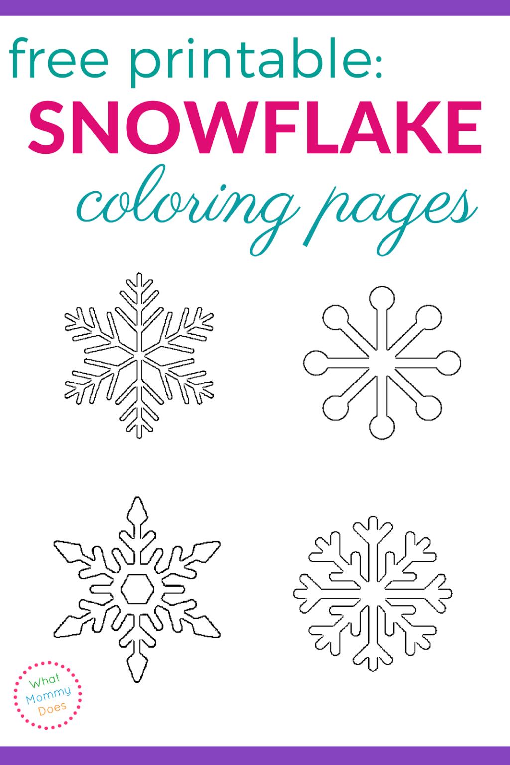 Coloring Book World ~ Splendi Snowflake Coloring Sheet Image - Free Printable Snowflakes
