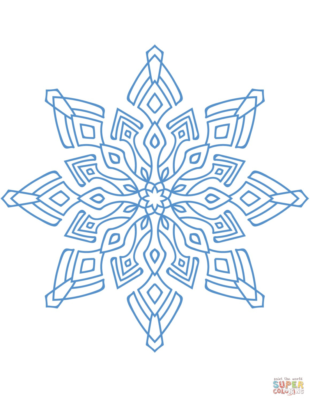Coloring Book World ~ Splendi Snowflake Coloringt Image Inspirations - Free Printable Snowflakes