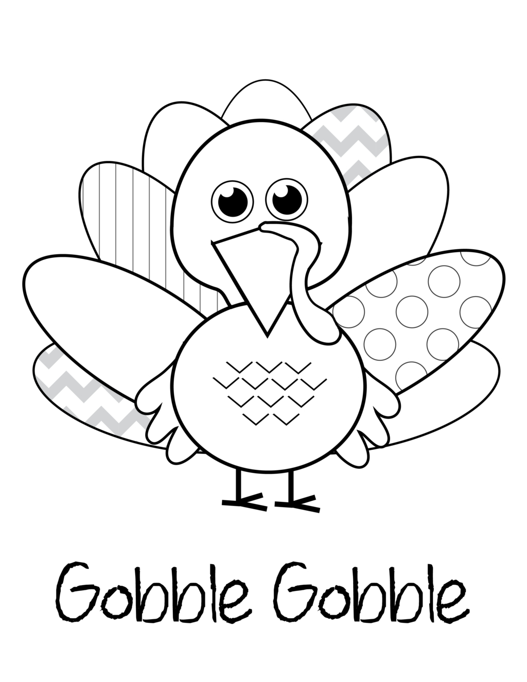 Coloring Book World ~ Turkey Coloring Pages For Preschoolers Kids - Free Printable Turkey Coloring Pages