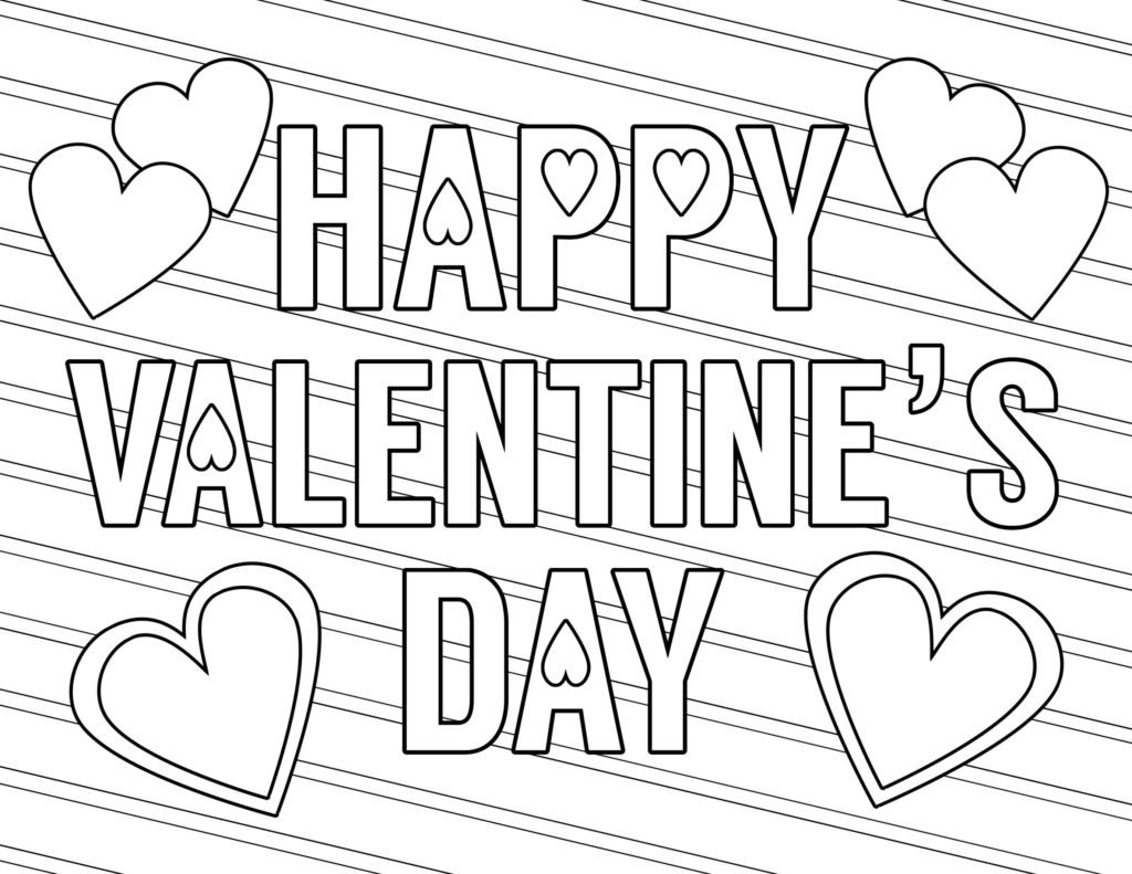 Coloring Book World ~ Valentine Coloring Sheets Valentines Day Page - Free Printable Heart Designs
