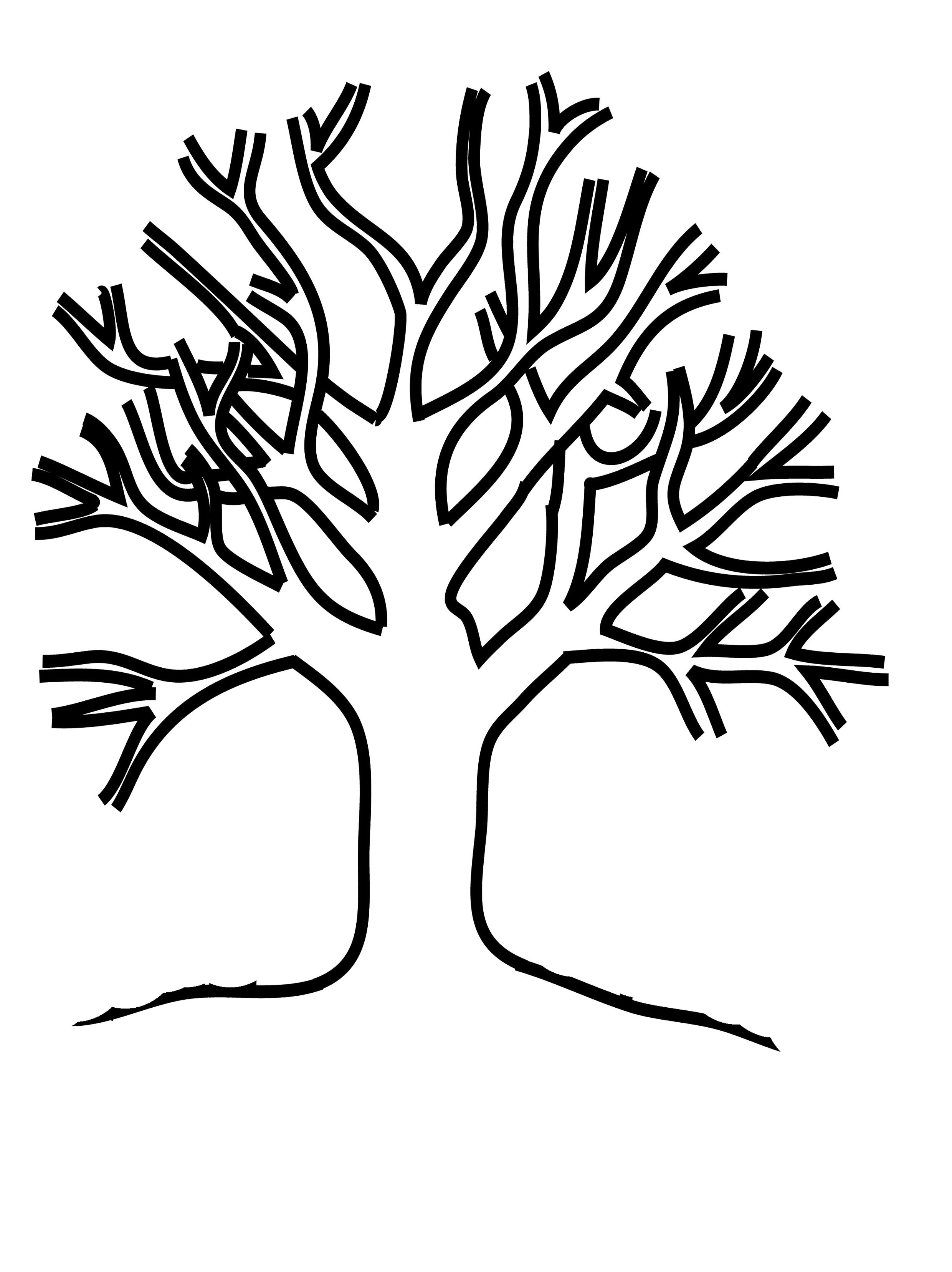 Coloring ~ Bw Family Tree Printable History Daily Template With - Free Printable Tree Template