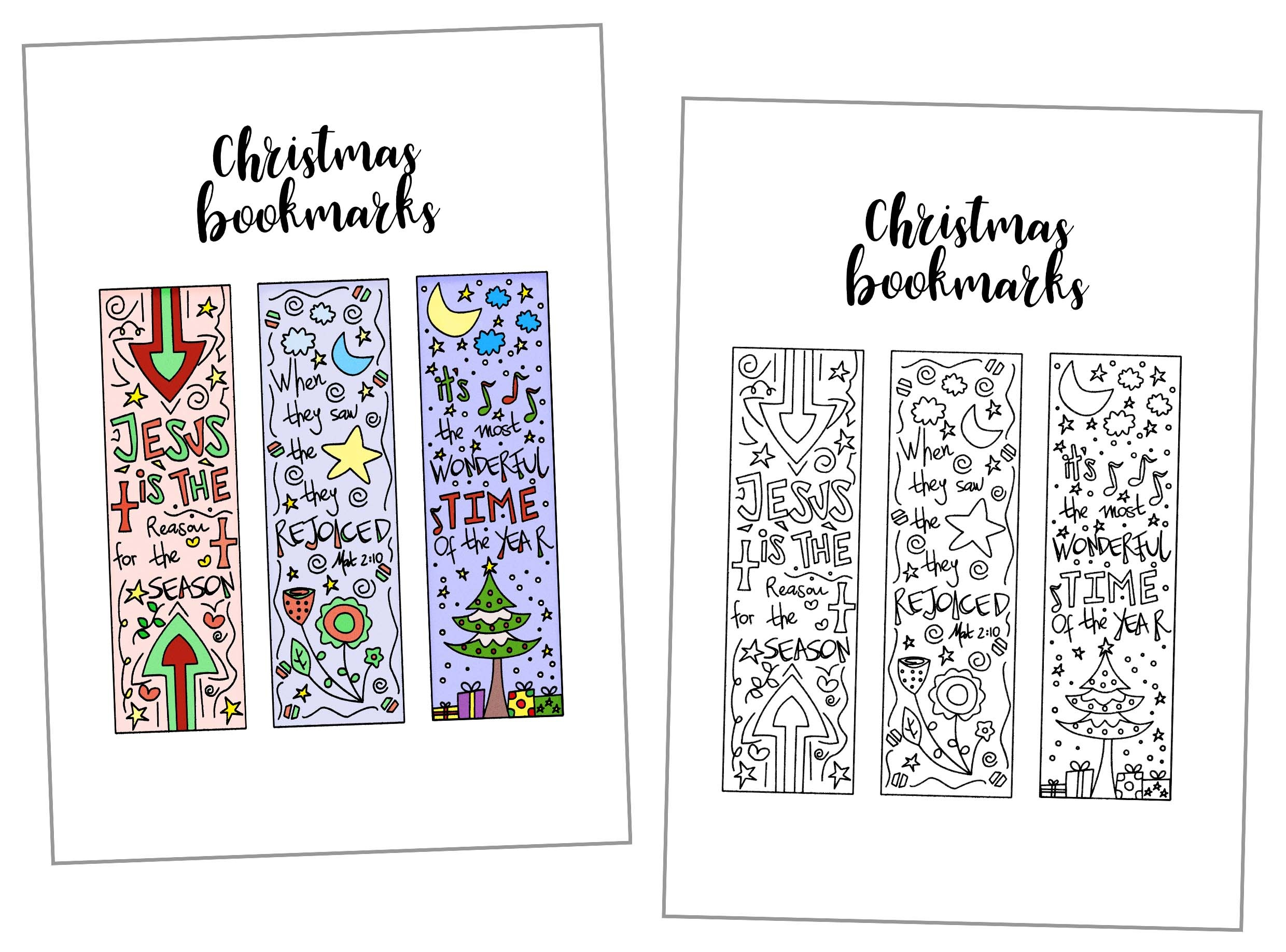 Coloring Christmas Bookmarks Free Printable - Free Printable Christmas Bookmarks To Color