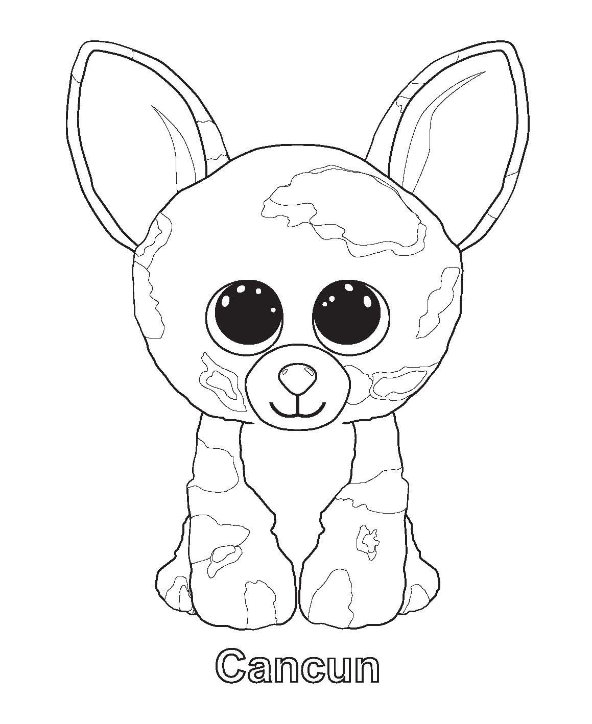 Coloring Ideas : Beanie Boo Coloring Pages Only Staggering Photo - Free Printable Beanie Boo Coloring Pages