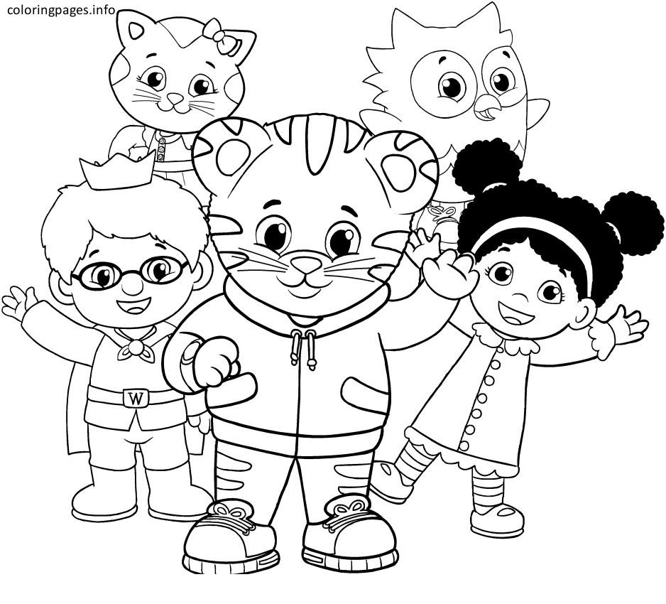 Coloring Ideas : Coloring Ideas Pages Daniel Tiger With Image Free - Free Printable Daniel Tiger Coloring Pages