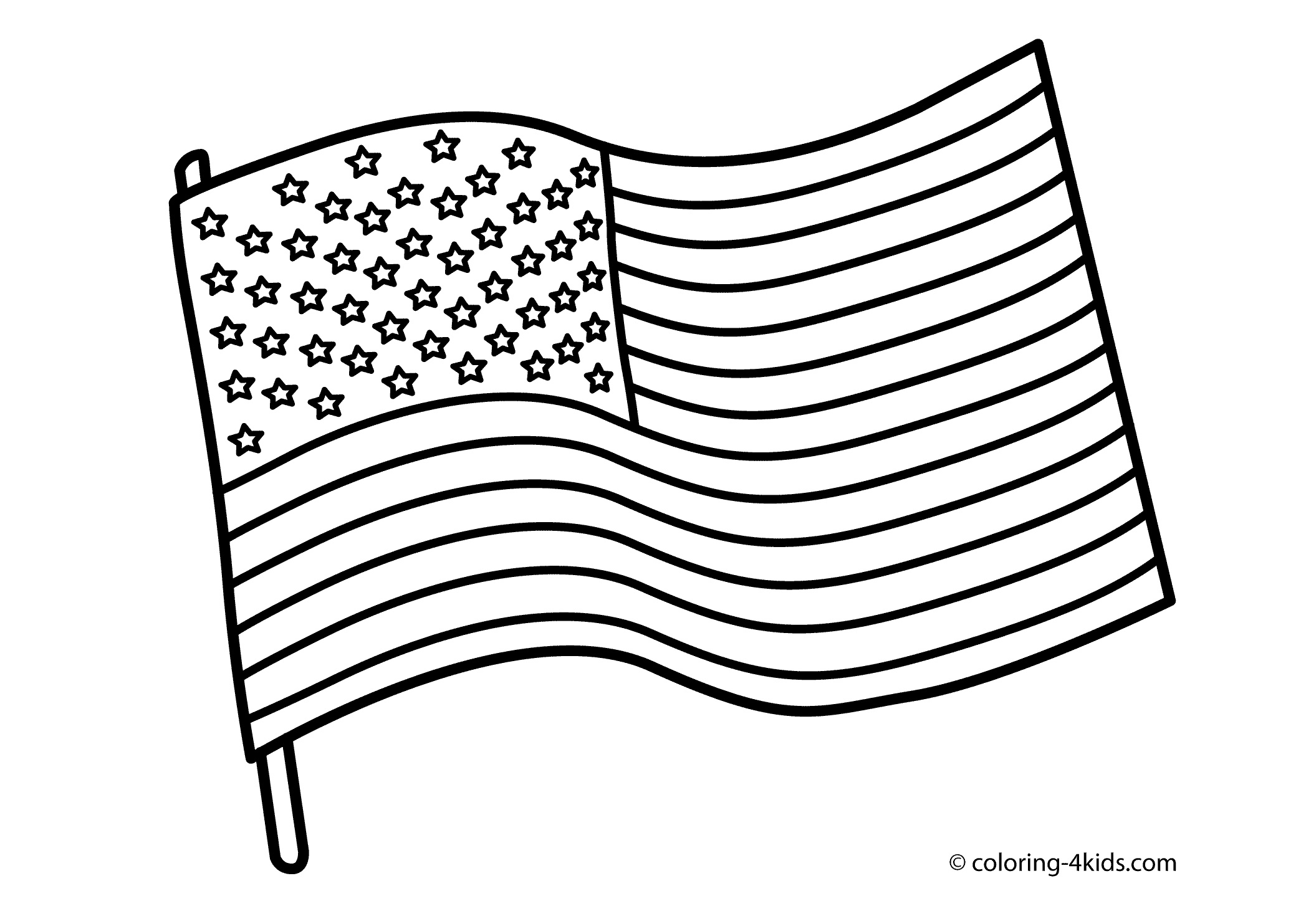 Coloring Ideas : Flag Coloring Pages To Download And Print For Free - Free Printable American Flag Coloring Page