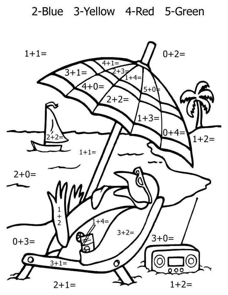 Free Printable Math Coloring Sheets
