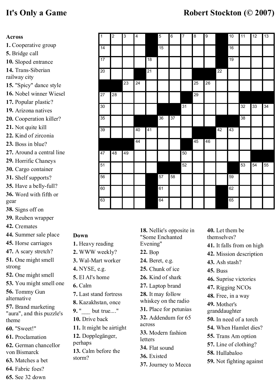 Coloring ~ Large Print Crosswordsthomas Joseph Printable - Free Printable Crossword Puzzles