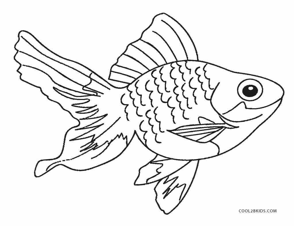 Coloring Page ~ Free Printable Fish Coloring Pages For Kids - Free Printable Fish Coloring Pages