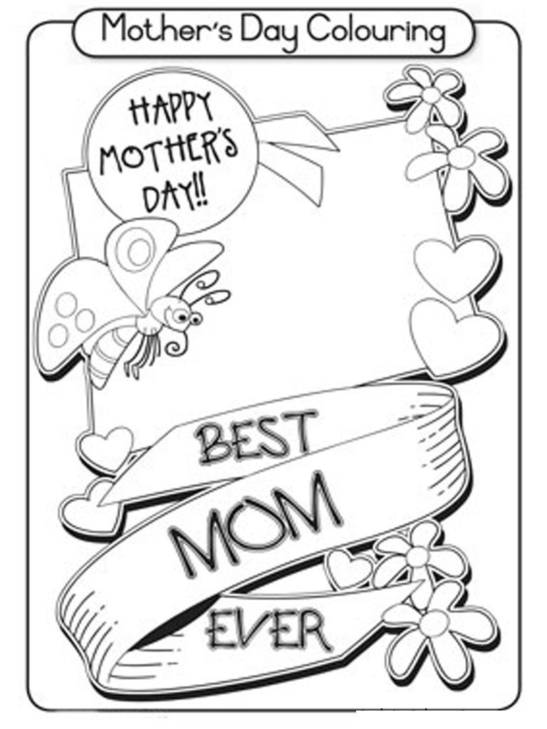 Coloring Page ~ Free Printable Mothers Day Colorings Cards Mothers - Free Spanish Mothers Day Cards Printable