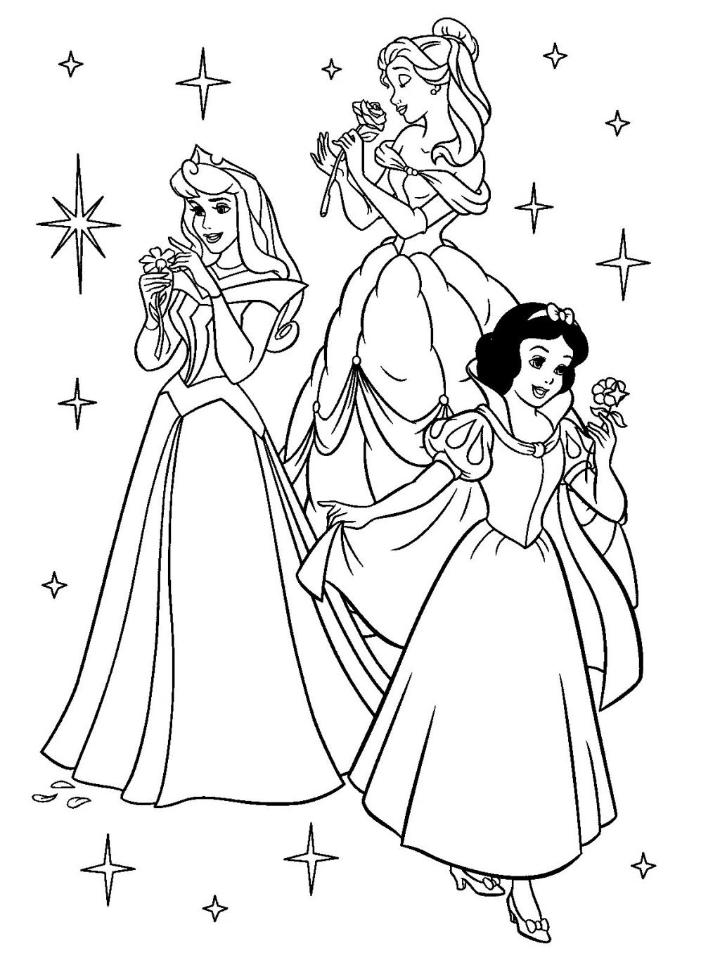 Coloring Page: Phenomenal Disney Princess Coloring Pages. - Free Printable Coloring Pages Of Disney Characters