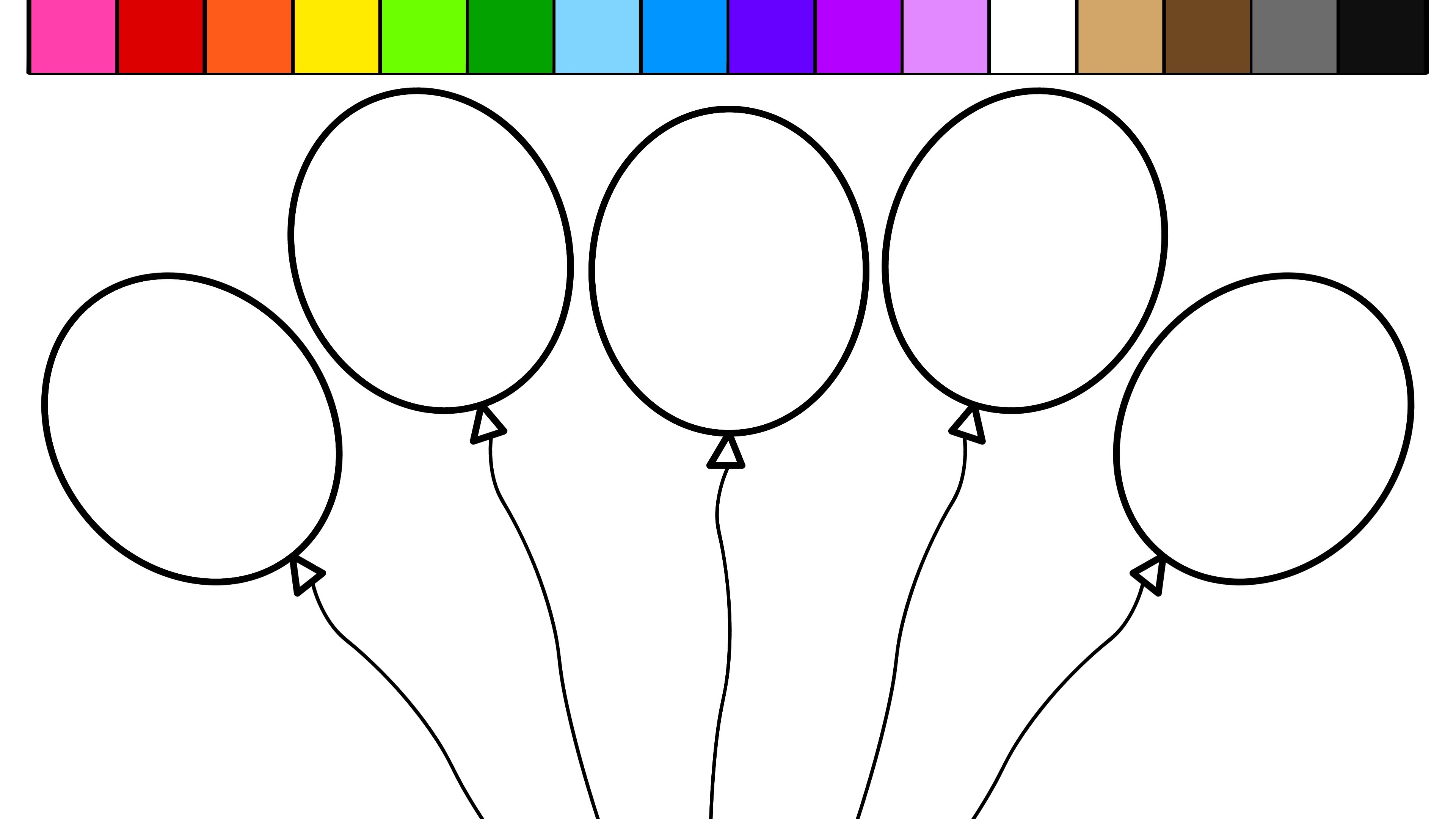 Coloring Pages Balloons With Redgrillo | Coloring Pages - Free Printable Pictures Of Balloons