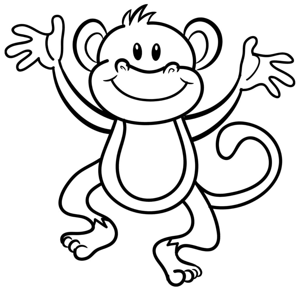 Coloring Pages: Valentine Monkey Coloring At Get Drawings Free For - Free Printable Monkey Coloring Pages