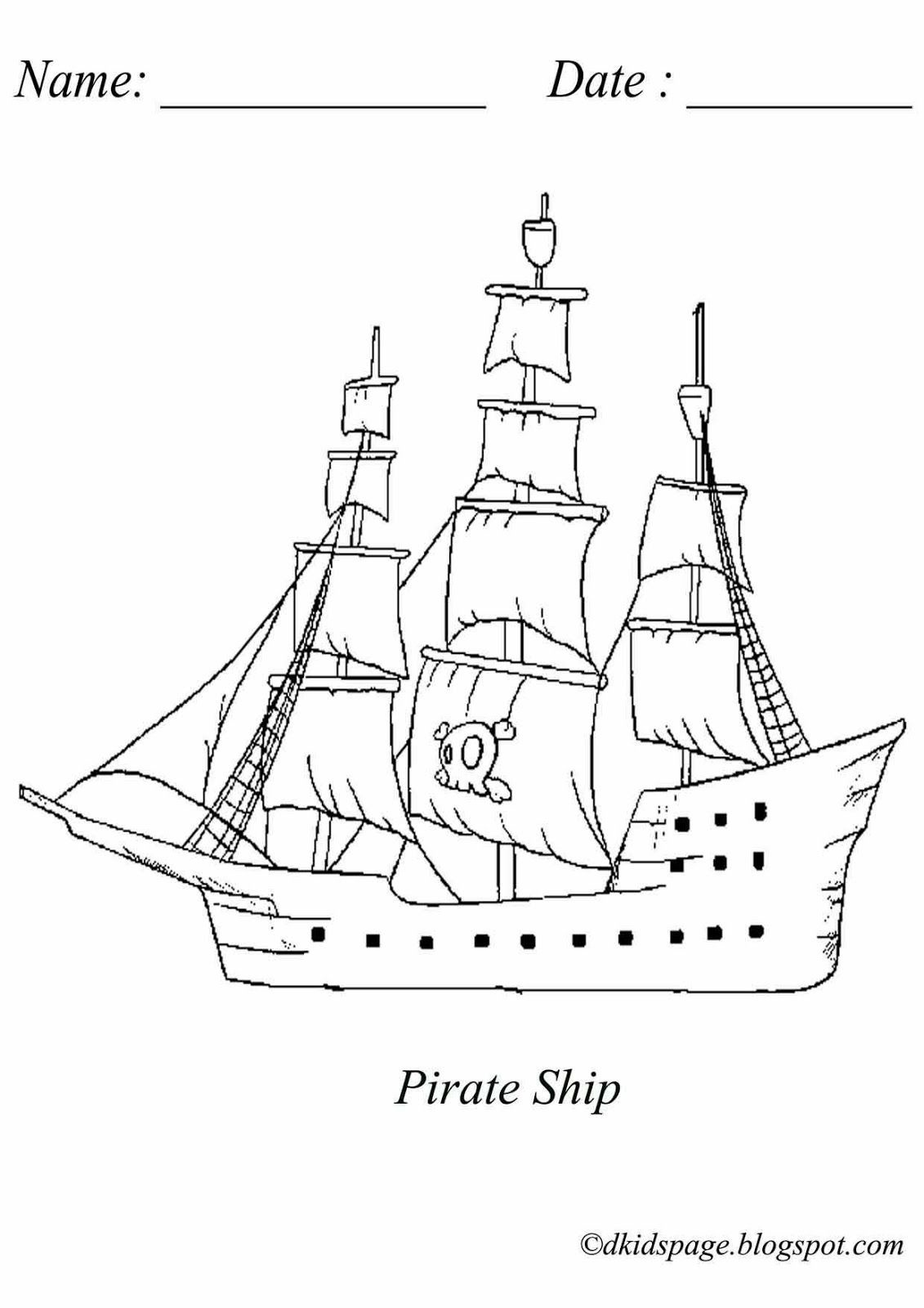 Coloring Picture Of Pirate Ship. Download Free Printable Pirate Ship - Free Printable Boat Pictures
